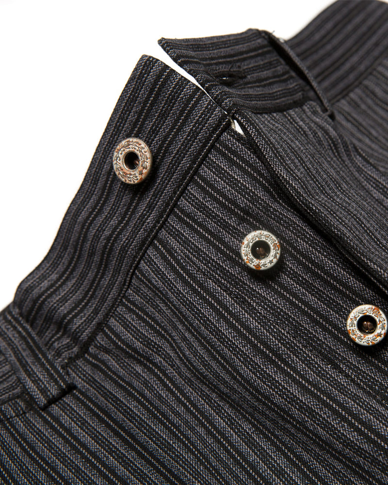 Twist Twill Striped Trouser Black