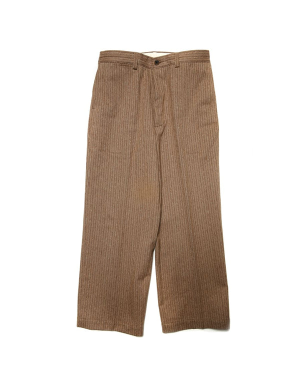 Mock Twill Pinstriped Trouser Brown