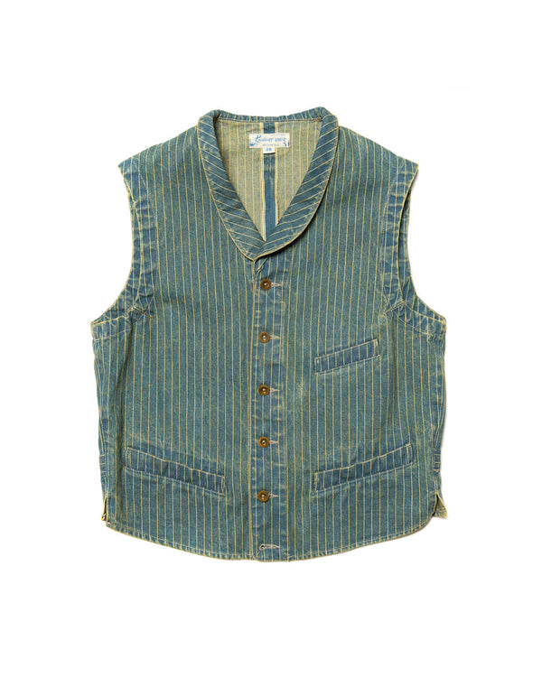 Washed Wabash Denim Vest