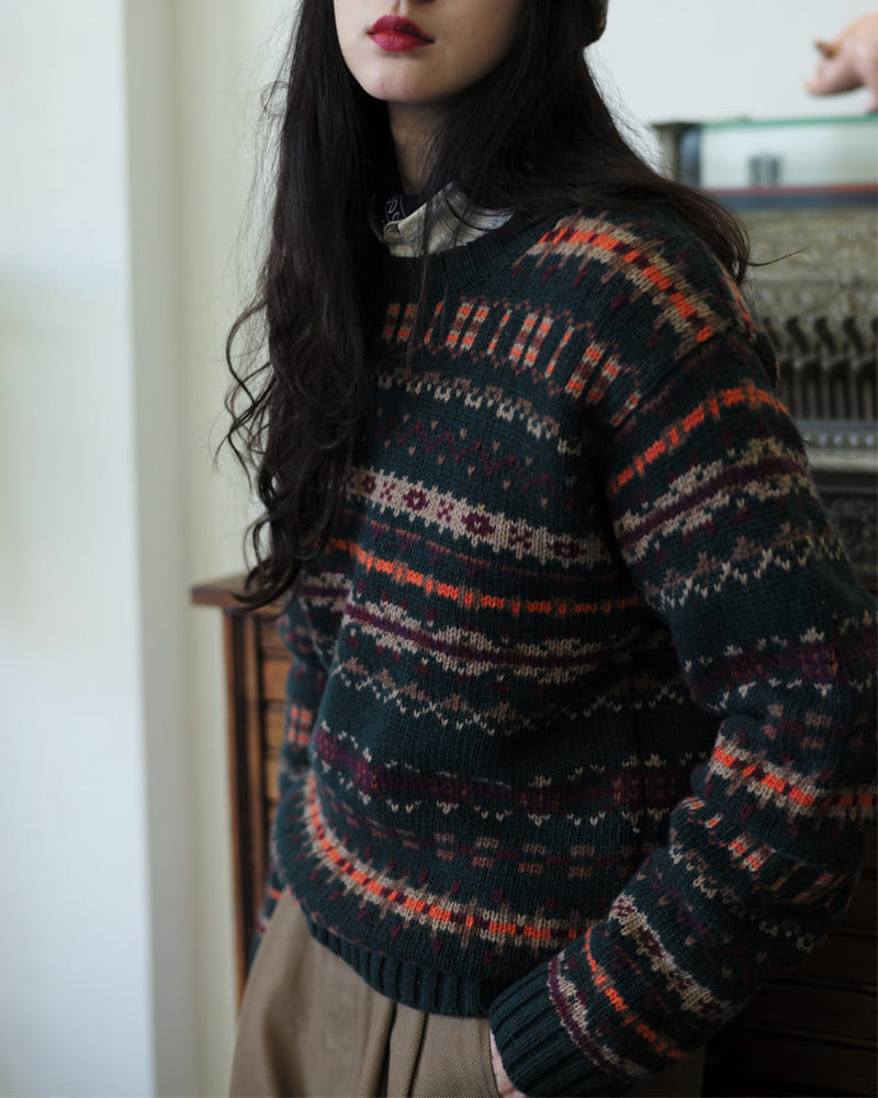 Fair Isle Jumper Green