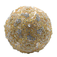 Gold Brooch Bouquet on a white background