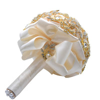 Gold Brooch Bouquet From behind