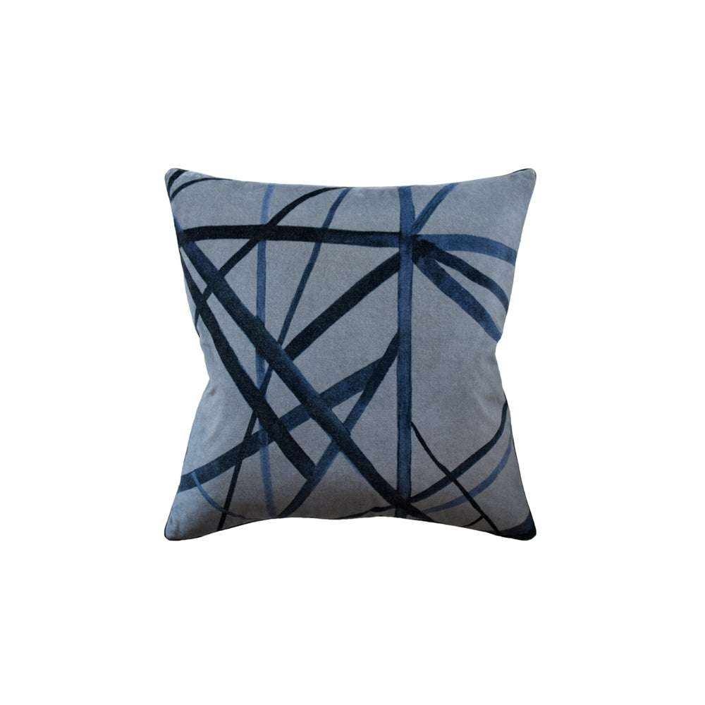 Slate Blue Channels Pillow