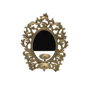 Ornate Candleholder Mirrors (Pair)