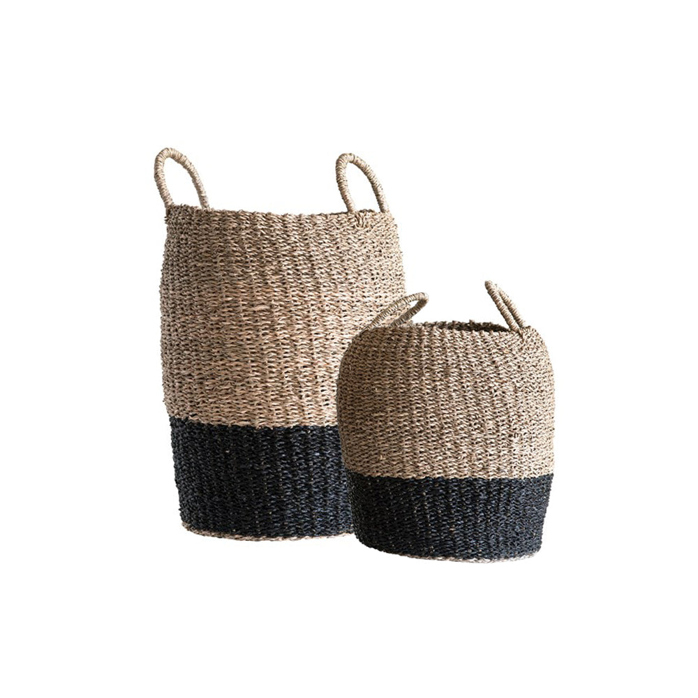 Load image into Gallery viewer, Color Blocked Basket Pair (Set of 2)
