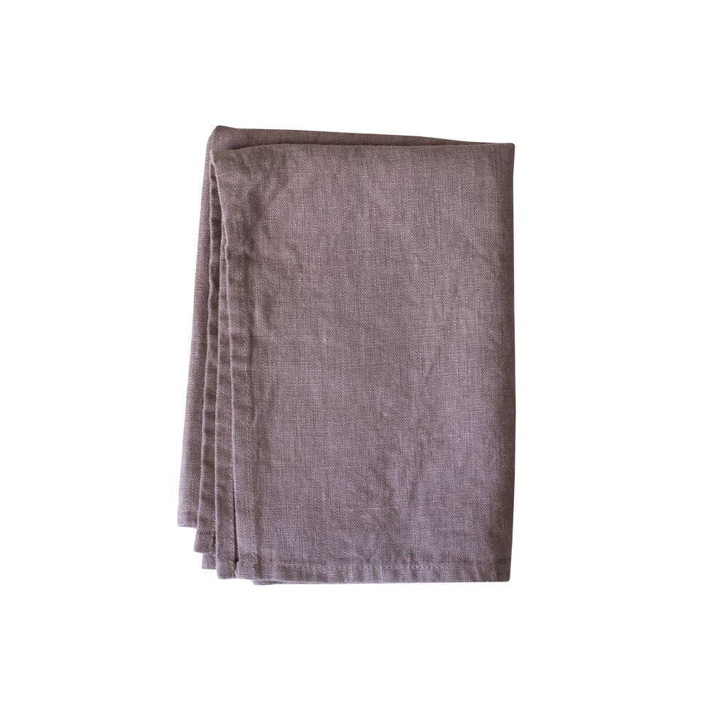 Dusty Rose Linen Kitchen Towel