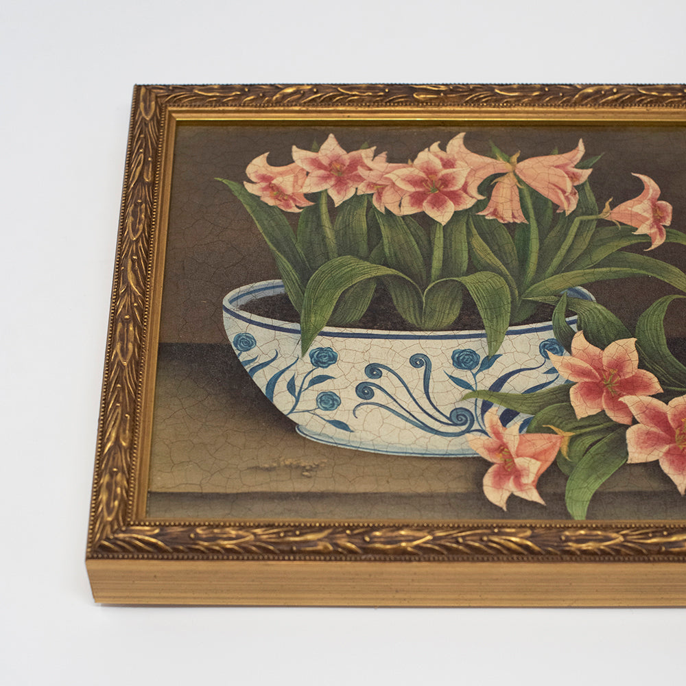 Load image into Gallery viewer, Vintage Floral Paintings (Set of 3)