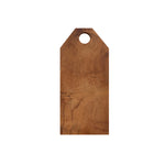 Teak Geometric Cutting Board