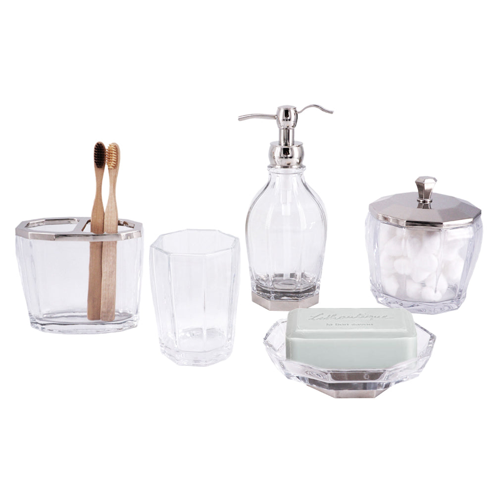Glass Bath Accessory Set