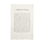 Index of Teas Kitchen Towel