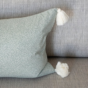 Load image into Gallery viewer, Green Safari Tassel Pillow