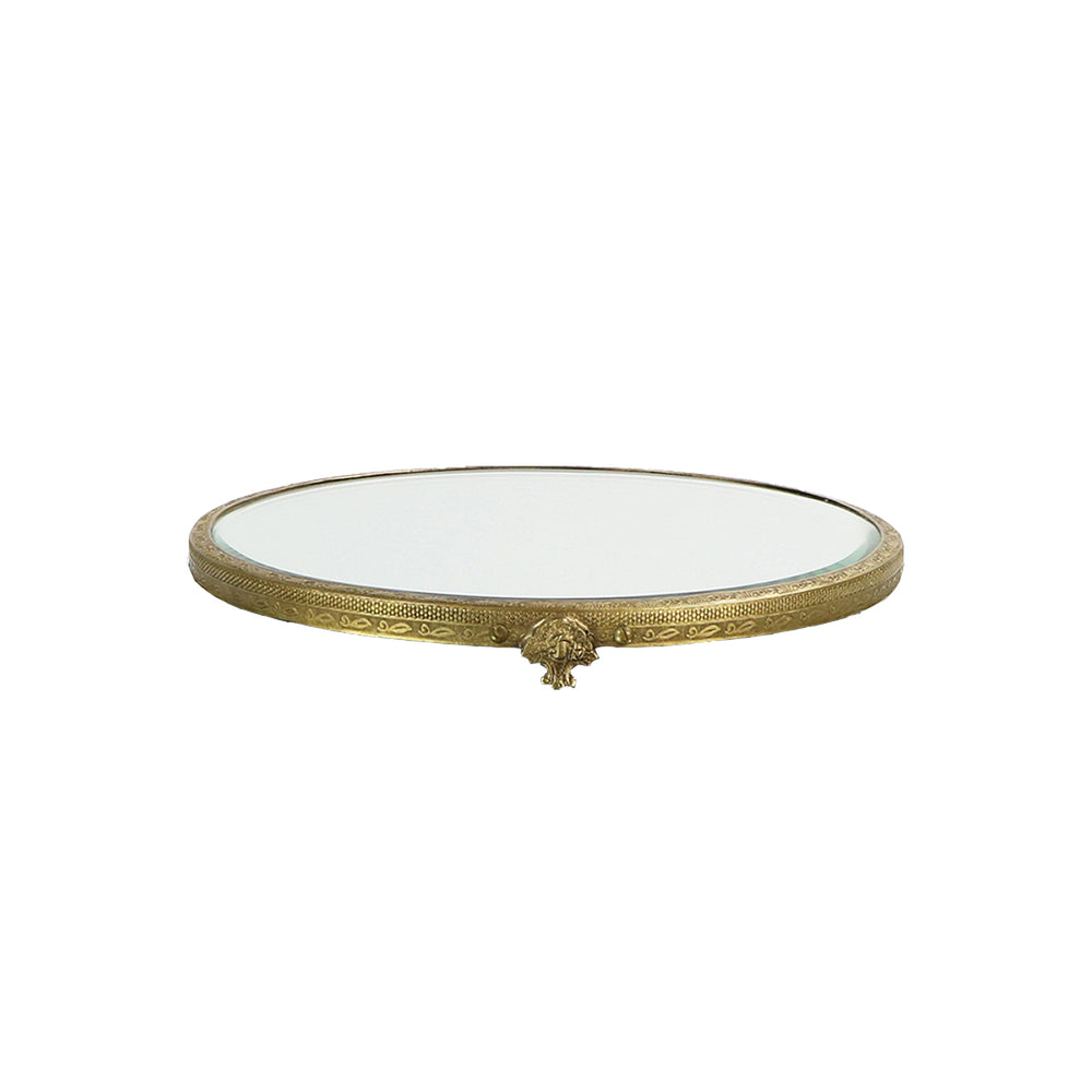 Mirrored Brass Tray