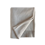 Tan Herringbone Throw