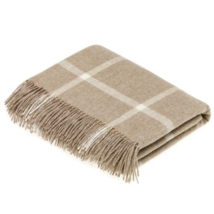 Wool Windowpane Throw
