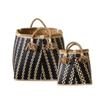 Tassel Wicker Basket Pair (Set of 2)
