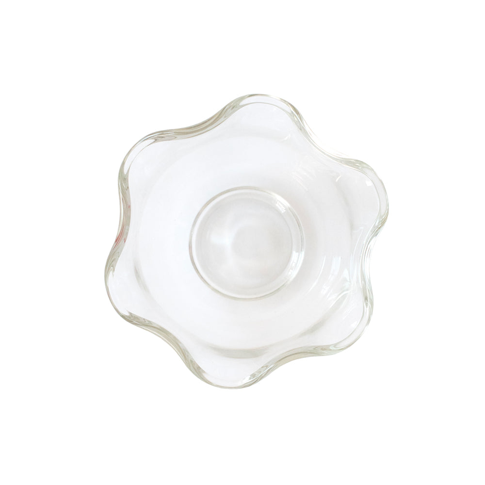 Ruffle Rim Glass Dish