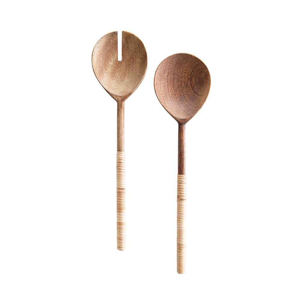 Bamboo Wrapped Salad Servers