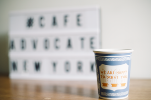 The NY Ceramic Greek Cup - cafeadvocate