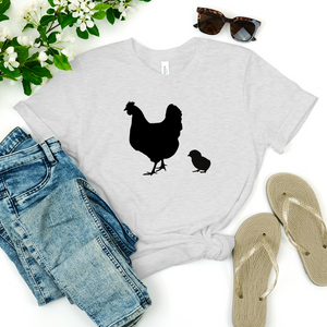 Hen and 1 Chick Short-Sleeve Unisex T-Shirt