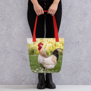 Rooster Photo Tote Bag