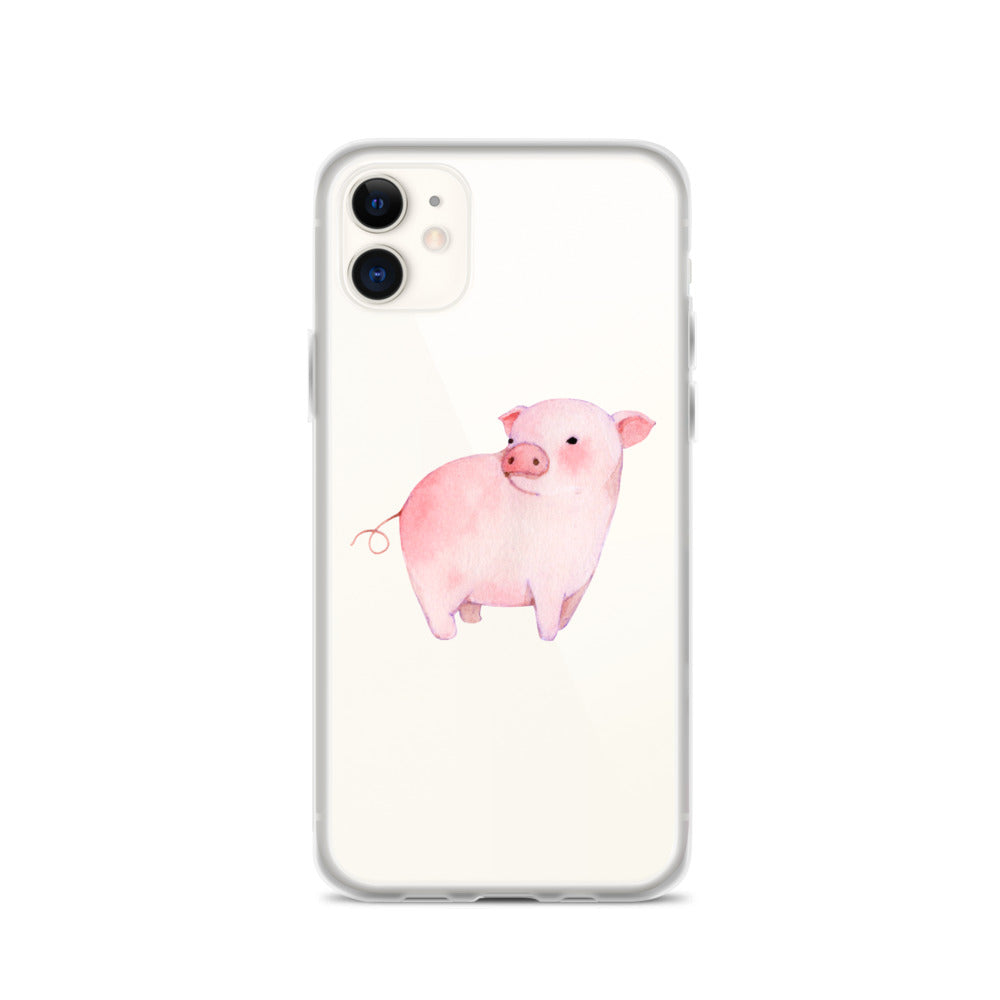 Watercolor Piglet iPhone Case