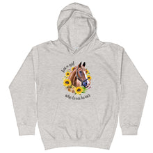 Load image into Gallery viewer, Just a Girl Who Loves Horses Kids Hoodie