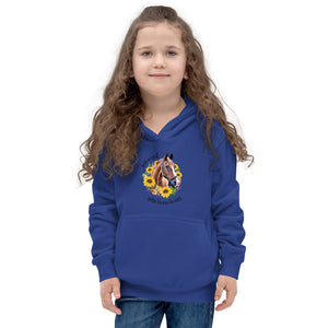 Just a Girl Who Loves Horses Kids Hoodie