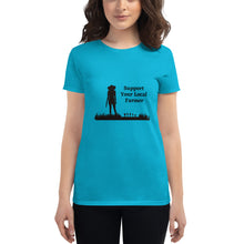Load image into Gallery viewer, Support Your Local Farmer Women's Short Sleeve T-Shirt