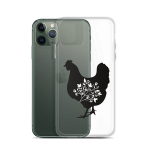Floral Hen iPhone Case