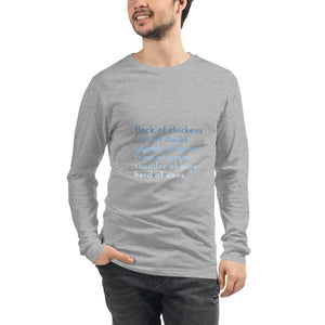 Farm Animal Groups Unisex Long Sleeve Tee