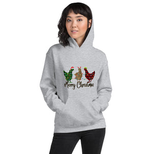 Merry Christmas Chicken Unisex Hoodie