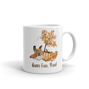 Happy Fall Y'All Ceramic Mug