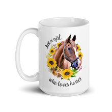Load image into Gallery viewer, Just a Girl Who Loves Horses Mug