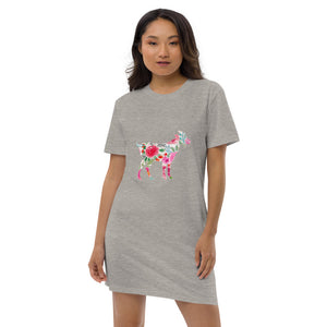 Floral Goat Ladies Organic Cotton Sleep Shirt