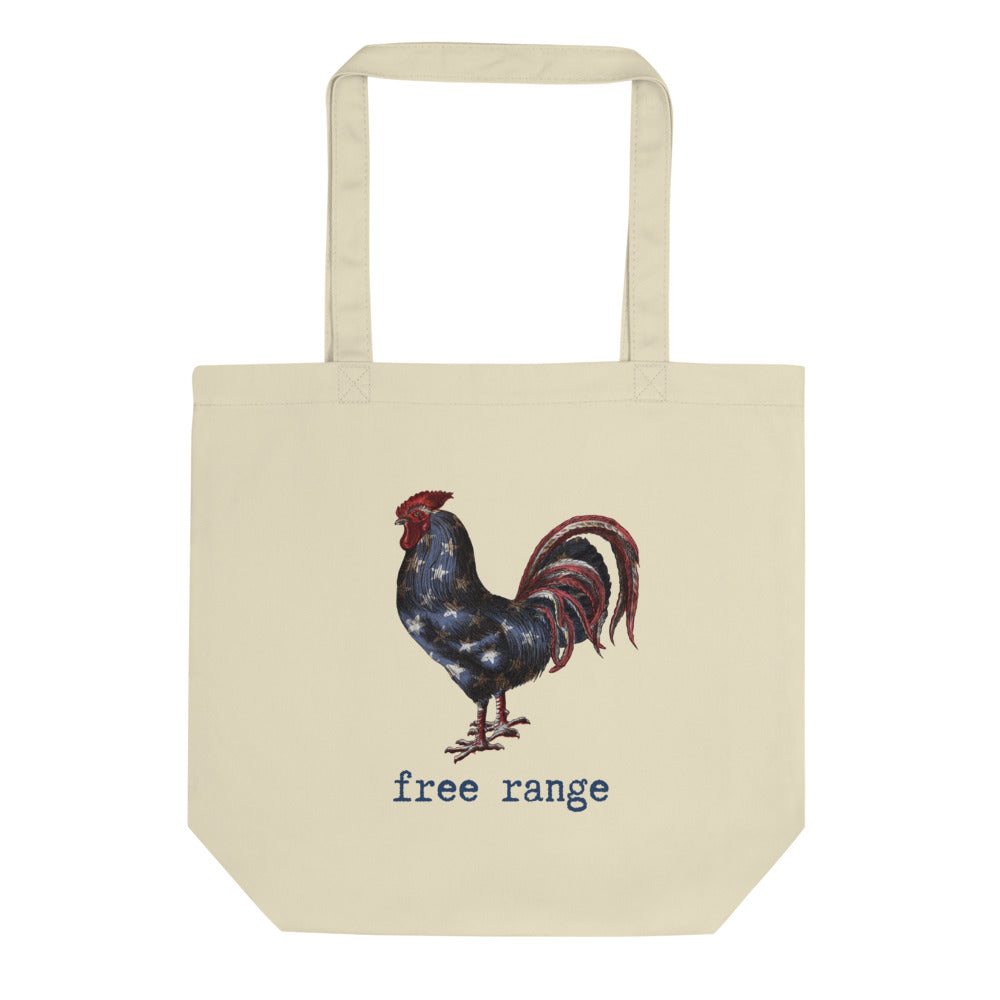 Free Range Rooster Eco Tote Bag