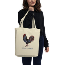 Load image into Gallery viewer, Free Range Rooster Eco Tote Bag