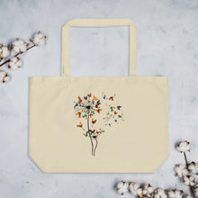 Load image into Gallery viewer, Chicken Dandelion large organic tote bag