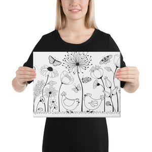 Life's Better With Chickens Canvas
