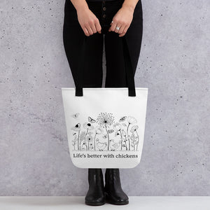 Life's Better With Chickens Tote Bag