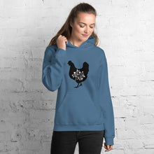 Load image into Gallery viewer, Floral Hen Unisex Hoodie
