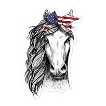 Load image into Gallery viewer, Patriotic Horse Bubble-Free Stickers