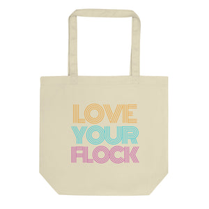 Retro Love Your Flock Eco Tote Bag