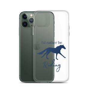 I'd Rather Be Riding iPhone Case