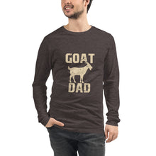 Load image into Gallery viewer, Goat Dad Unisex Long Sleeve Tee