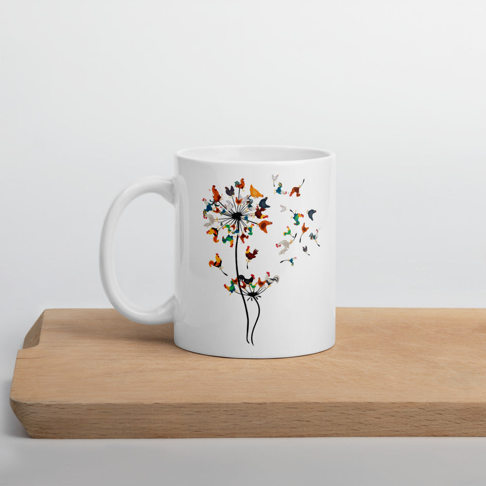 Chicken Dandelion Mug