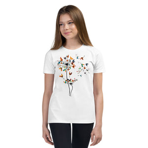 Chicken Dandelion Youth Short Sleeve T-Shirt