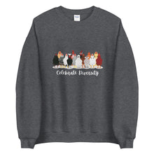 Load image into Gallery viewer, Celebrate Diversity Chickens Unisex Sweatshirt