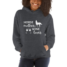 Load image into Gallery viewer, Horse Mother Wine Lover Unisex Hoodie