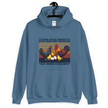 Load image into Gallery viewer, The Little Voices in My Head Keep Telling Me to Get More Chickens Unisex Hoodie