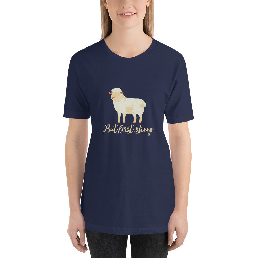 But First, Sheep Short-Sleeve Unisex T-Shirt